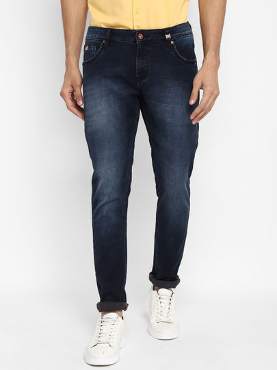 Dark Blue Mild Washed Slim Fit Jeans