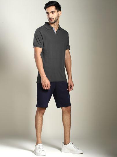 Dark Grey Solid Jhonnny Collar Polo T-shirt