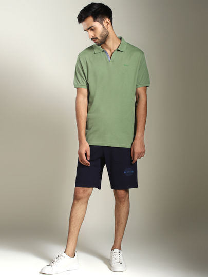 Green Solid Jhonny Collar Polo T-shirt