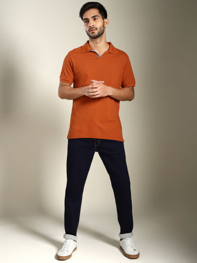 Rusted Solid Polo T-shirt