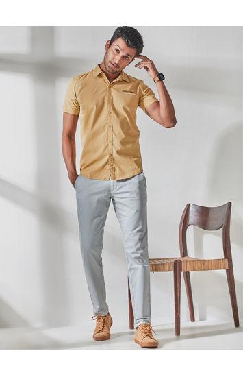 Light Yellow Sleeve Print Shirt