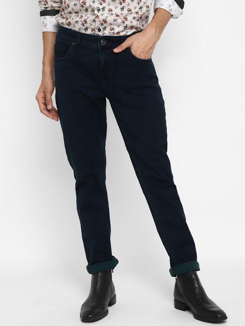 Dark Indigo Washed Slim Fit Jeans