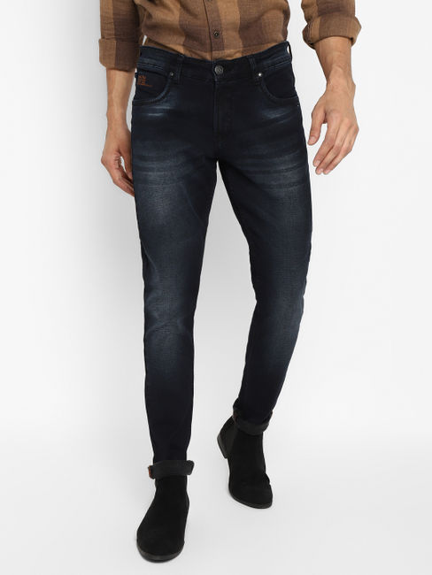 Dark Blue Raw Wash Slim Fit Jeans