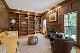 Wall of Built-in Bookshelves