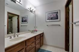 Full Hall Bathroom with a Double Sink Vanity
