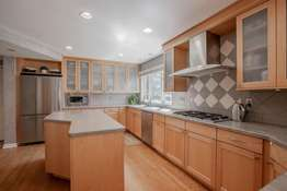 Custom Cabinetry and Frosted Glass Doors