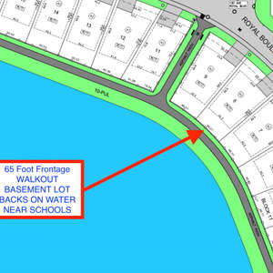 Build your dream home backing on the water in Royal Oaks.