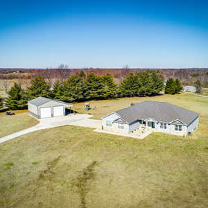 Newly Built Ranch Home on Acreage with Outbuilding