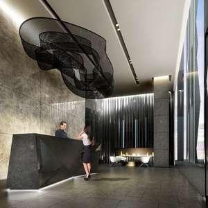 49th Floor 2 Bed + Den , Balcony, Parking, Locker