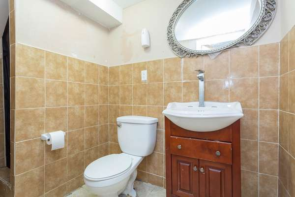 1/2 bath inside this House for sale In Jamaica Queens NY
