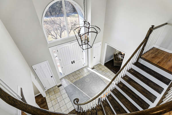 ENTRY FOYER FROM SECOND LEVEL