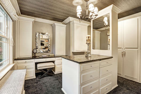 THIS LUXURIOUS WALK-IN DRESSING ROOM IS ON EVERY BUYER'S WISH LIST