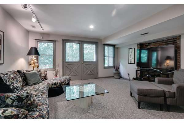 Family Room with Walkout Access to the Backyard