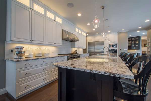 Chefs Kitchen with Granite Counters