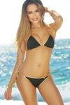 Black & Gold Fixed Triangle Bikini Top image