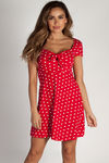 """Better Now"" Red Polka Dot Skater Dress image"