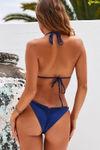 Navy Bikini On a Chain Triangle Top image