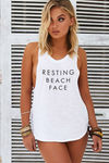 Resting Beach Face Tank image
