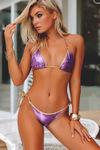 Panama Grape & Gold Triple Chain Bikini Bottom image