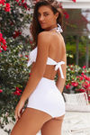 Waikiki White High Waist Scrunch Bikini Bottoms image