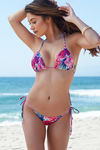 Surfside Vintage Tropical Print Triangle Bikini Top image