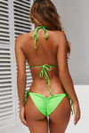 Neon Green Fringe Triangle Top image