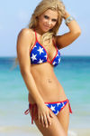 Lima Red, White & Blue Star Print Classic Scrunch Bottoms image