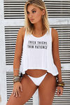 Thick Thighs Thin Patience Crop Tank image