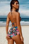 Honolulu Tropical Print Triangle Bikini Top image