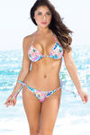 Honolulu Blue Hawaii Print Triangle Bikini Top image