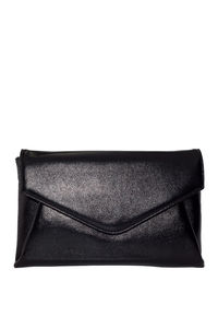 Black Faux Leather Clutch image