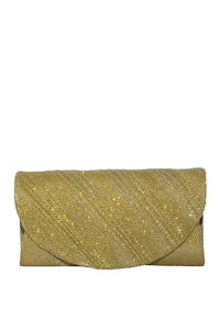 Gold Emblazoned Shimmer Clutch  image