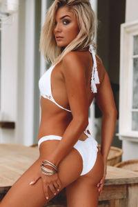 Hyacinth White Bikini Top image