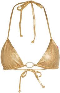 Cabo Sexy Metallic Gold Bikini Triangle Top image