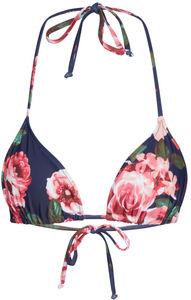 Rose Garden Print Triangle Bikini Top image