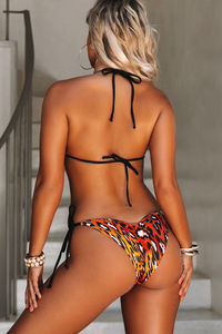 Sunset Leopard & Black Triangle Top image