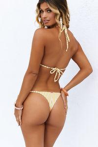 Yellow Stripes Brazilian Thong Bottom image