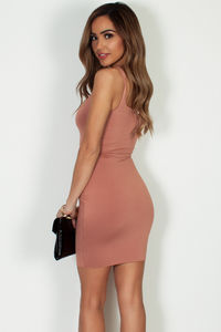 """Always On Time"" Mauve Layered Square Neck Mini Dress image"