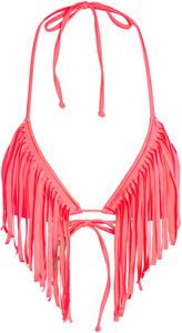 Neon Coral Fringe Triangle Top image