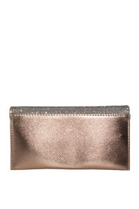 Rose Gold Rhinestone Emblazoned Clutch image