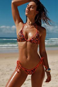 Panama Sunset Leopard Triangle Bikini Top image