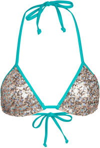 Jade & Baby Blue Sequins Triangle Top image