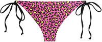 Neon Pink Leopard Triangle Top image