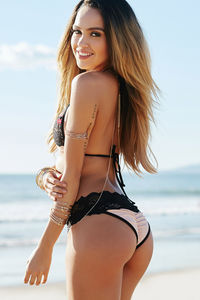 Maui Blush & Black Lace Band Scrunch Bottoms  image