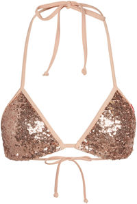 Champagne Sequin Triangle Top image