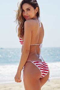 Red White & Blue Bikini Top image