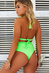 Neon Green Adjustable Halter Top image