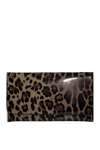 Leopard Patent Leather Essential Flap Clutch image