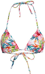 Surfside Rainbow Tropical Print Triangle Bikini Top image