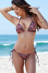 Surfside Versache Print Triangle Bikini Top image